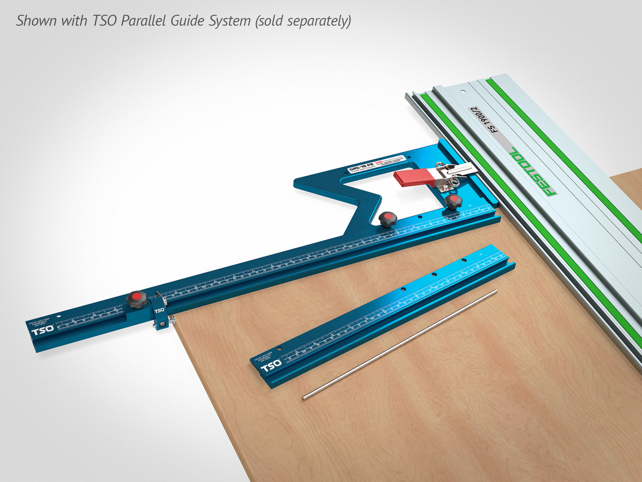 Connect the GRS-16 or GRS-16 PE to the TSO Parallel Guide System, enabling rapid square, parallel and repeatable cuts--perfect for batched workpieces.