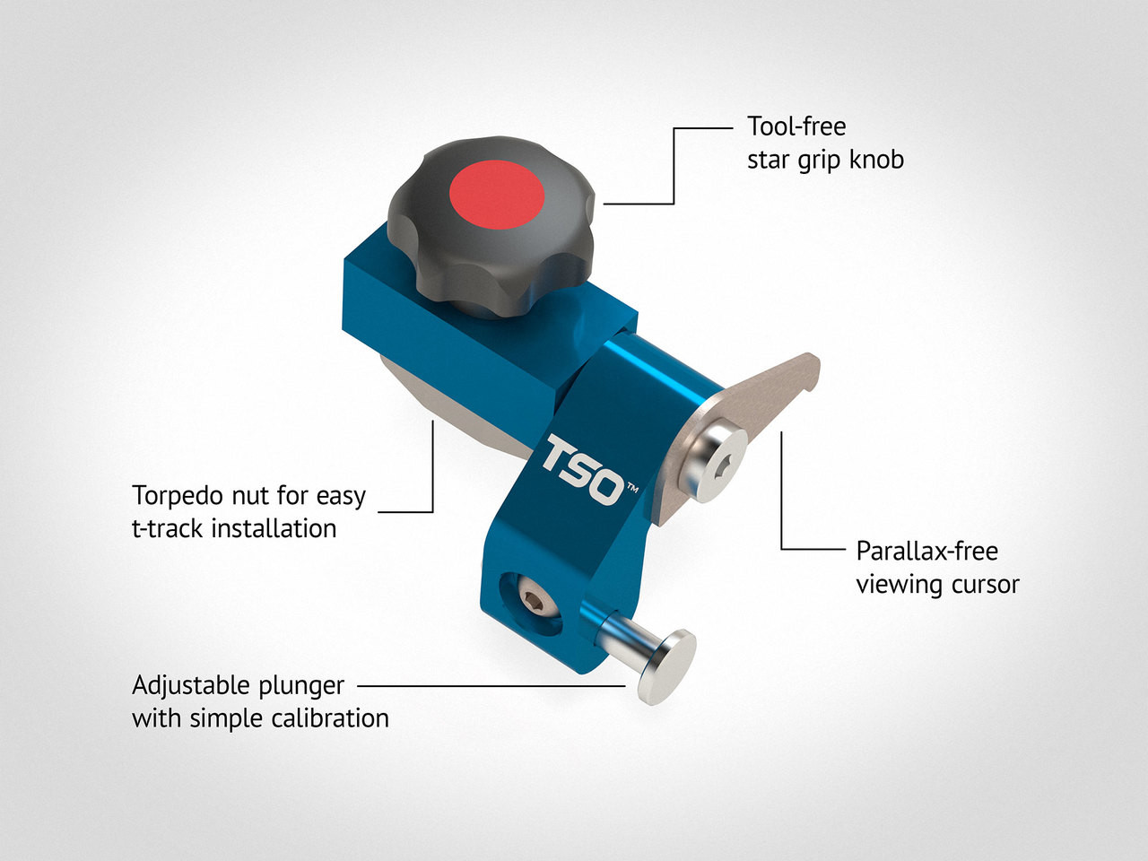 Additional Flip-Stop ST for TPG Parallel Guide System (Left Hand)