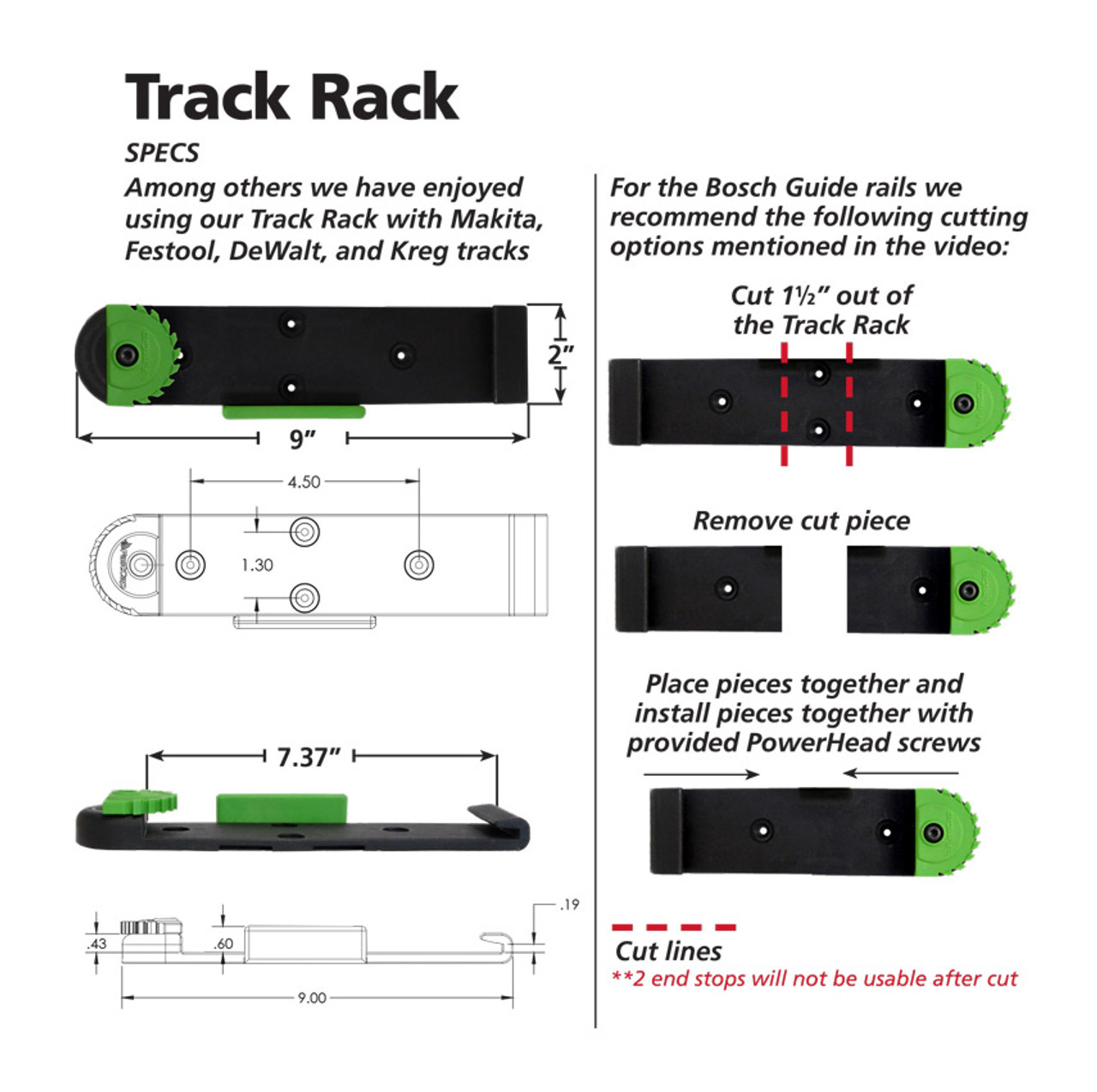 FastCap Track Rack