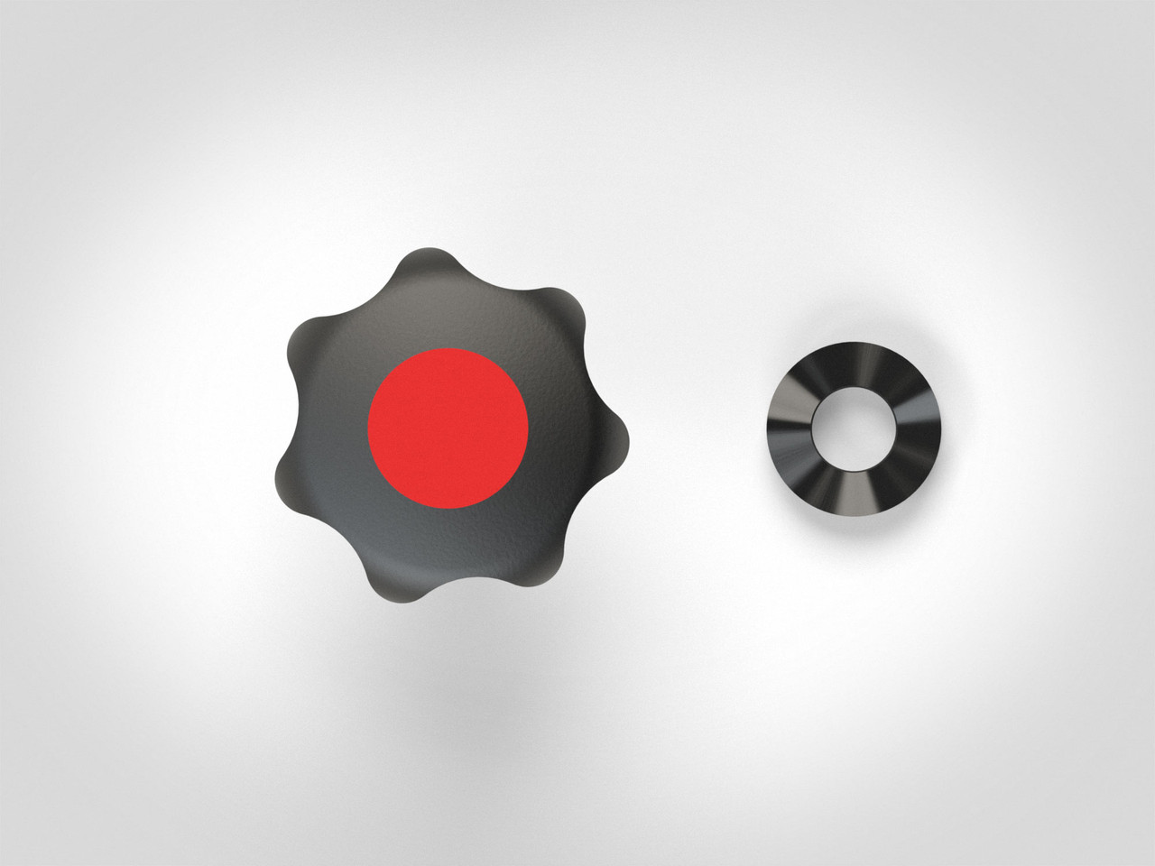 M6 Knob Set with Centering Spacers
