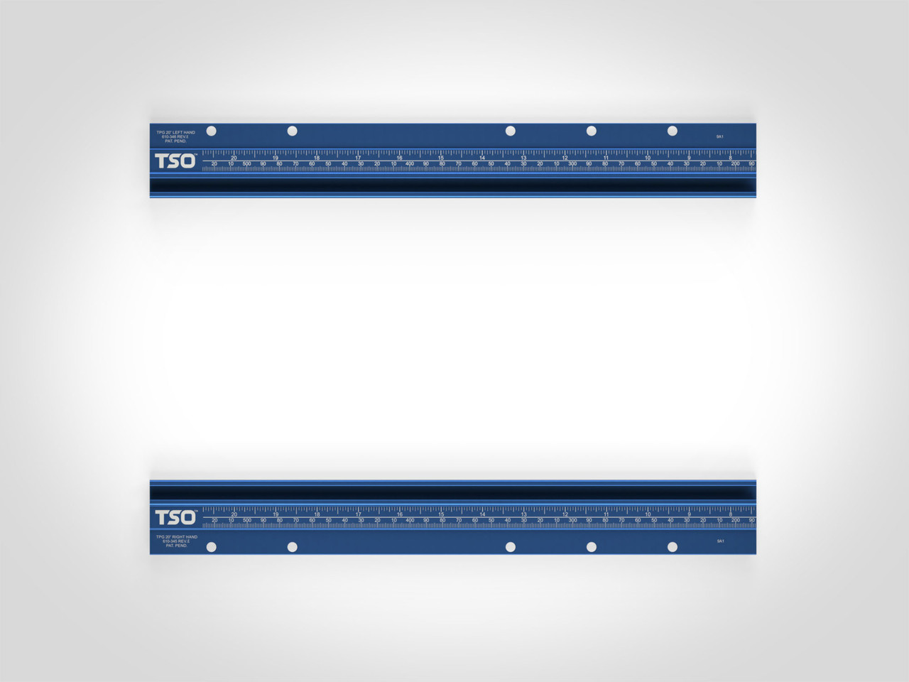 """20"""" T-tracks for TPG Parallel Guide System (Tracks Only)"""