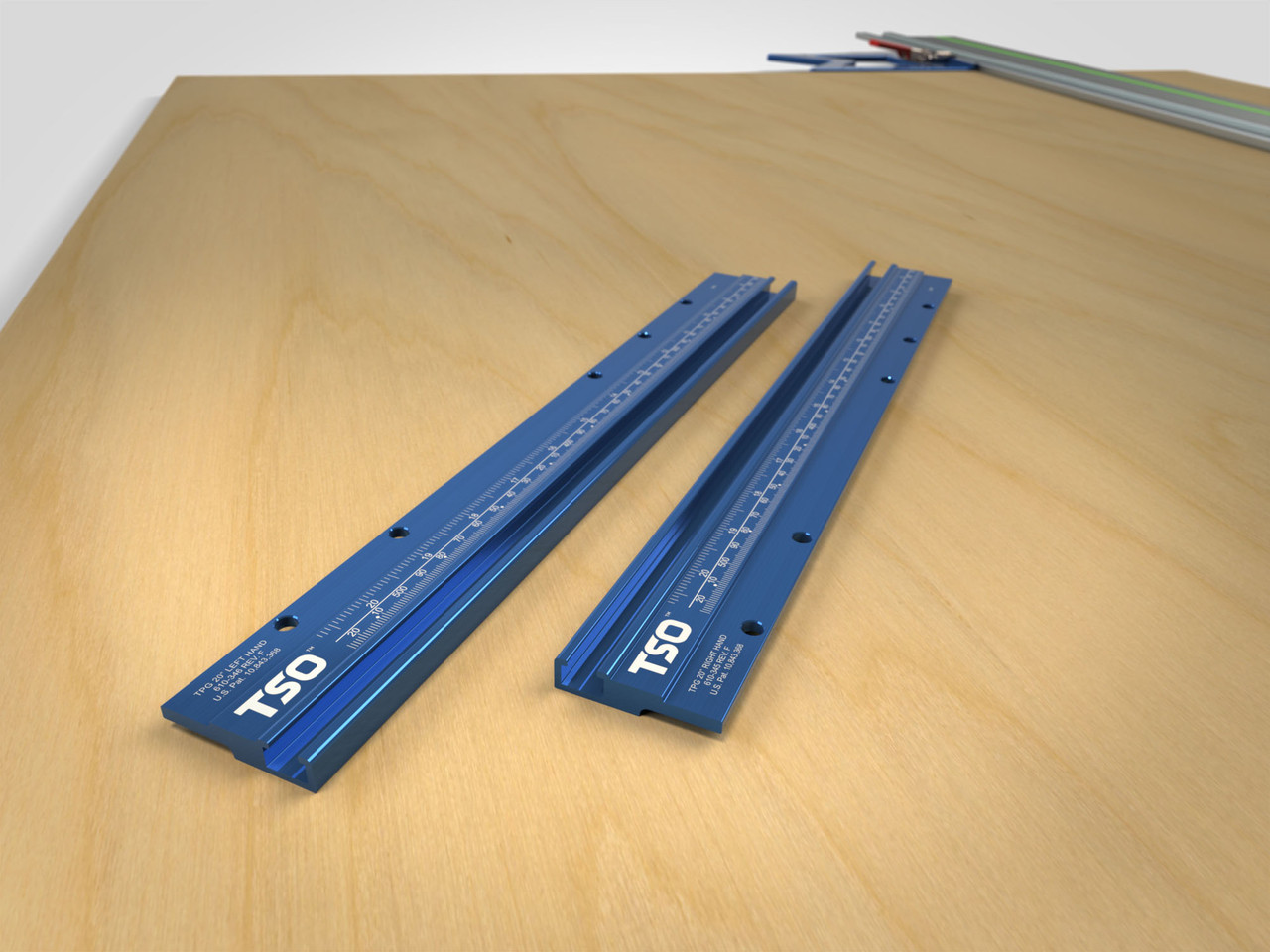 """Standalone pair of T-tracks with 20"""" (508mm) cutting width capacity, for use with TPG Parallel Guide System."""