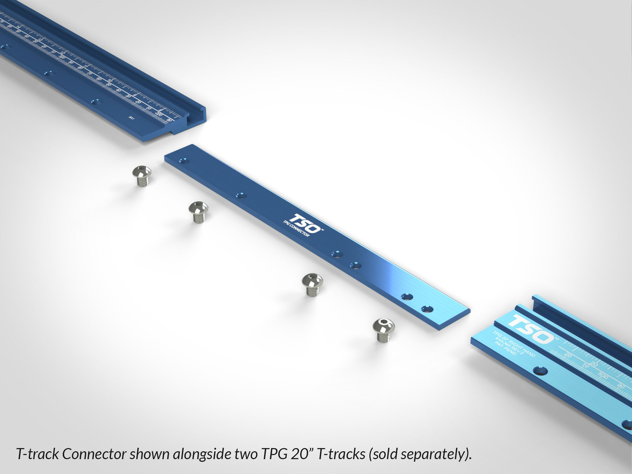 Combine multiple TPG Parallel Guide T-Tracks together using this strong connector.
