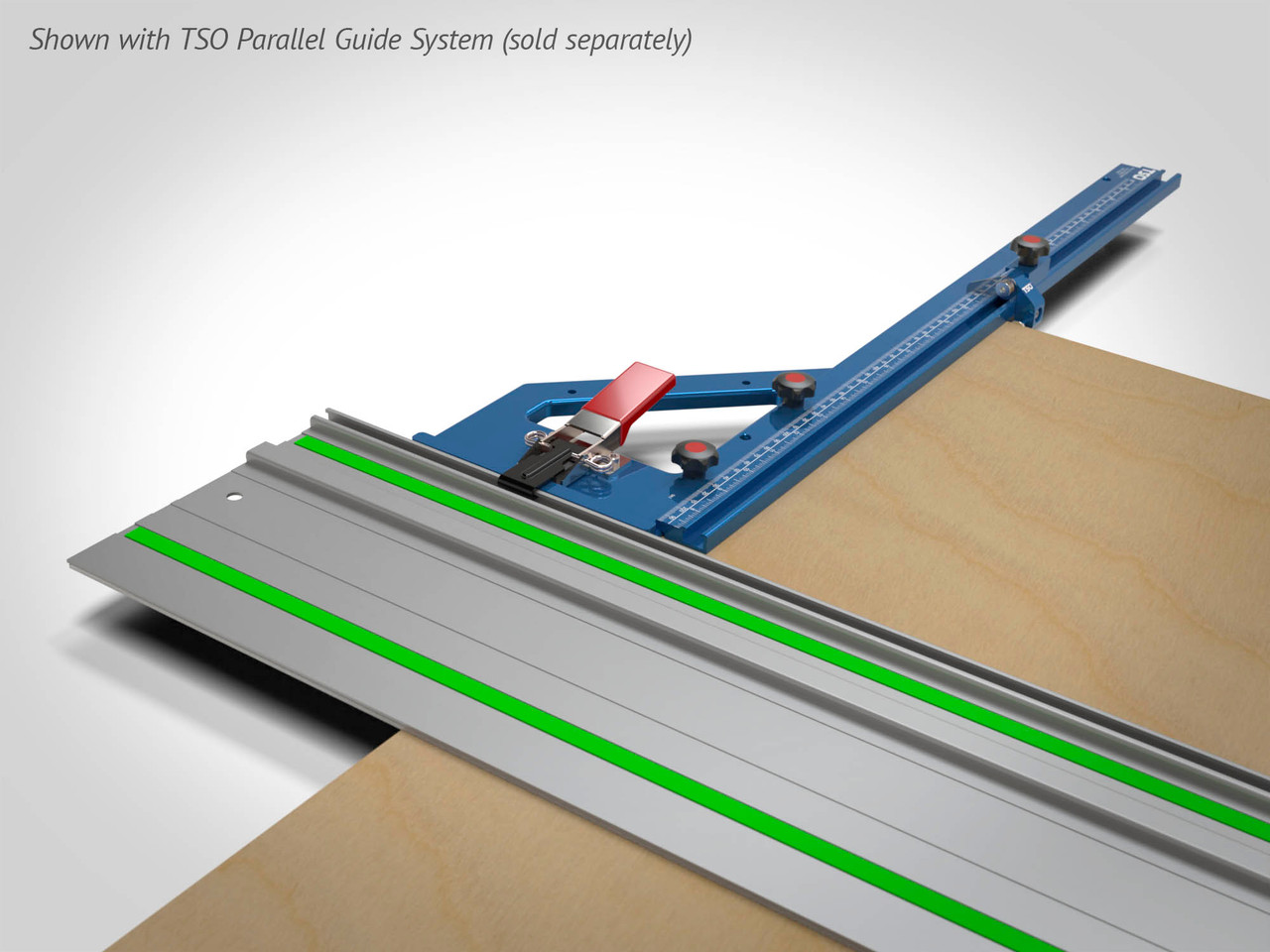 Connects to the TSO Parallel Guide System (sold separately) to enable fast, square, parallel and repeatable cuts!