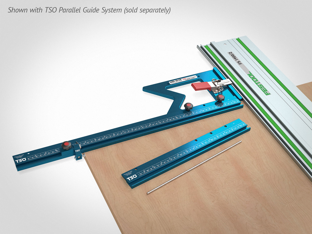 Connect the GRS-16 and GRS-16 PE to the TSO Parallel Guide System (sold separately) and experience fast, accurate, repeatable, square and parallel cuts!