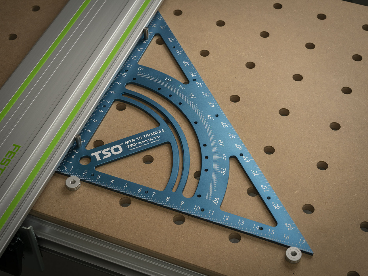 Don't assume you're 20x96mm hole pattern is in perfect alignment with your guide rail.
