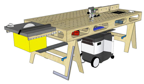 Paulk Workbench II with Router Table Plans