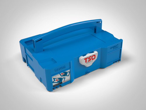 TSO Products branded Systainer  includes logo on latch. The ID card shown comes only with the FoamPac insert set.