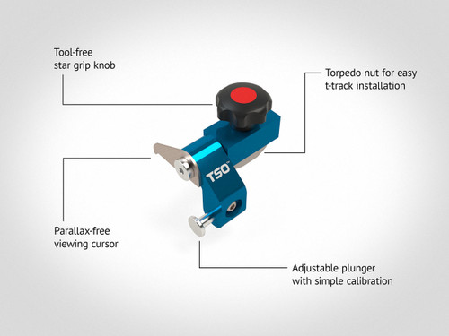 Reversible Flip Stop for TPG Parallel Guide System (Fits Right or Left Hand)