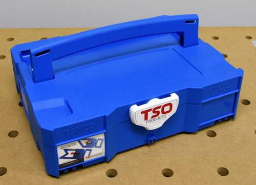 TSO Products branded Systainer  includes logo on latch. The ID card shown comes with the FoamPac insert set.
