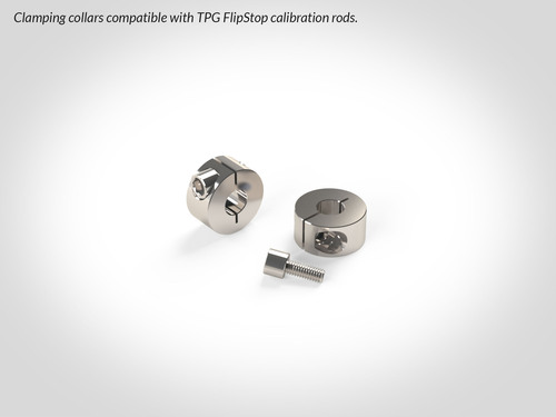 Clamping collar two-pack for TPG FlipStops.