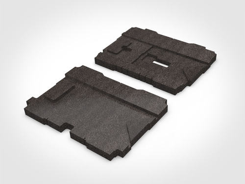 Stackable foam inserts fit two GRS-16s in a single Systainer.