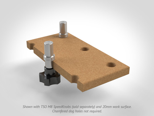 DoubleGroove™ 20mm Bench Dogs - Stubby Pair