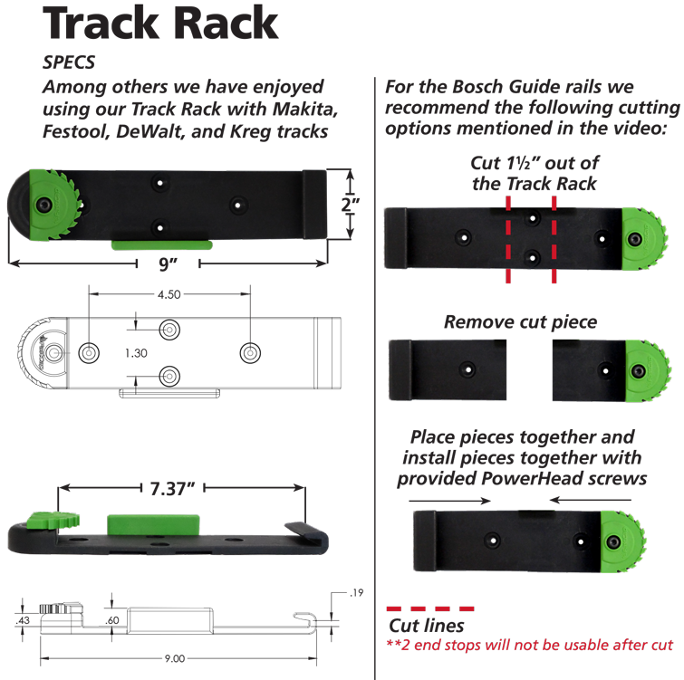 Track Rack - Mount your guide rails anywhere, and show ...