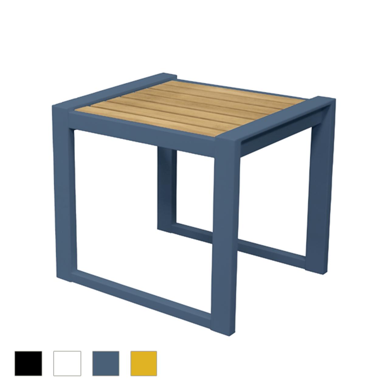 Avalon Teak Side Table Modern Patio Furniture