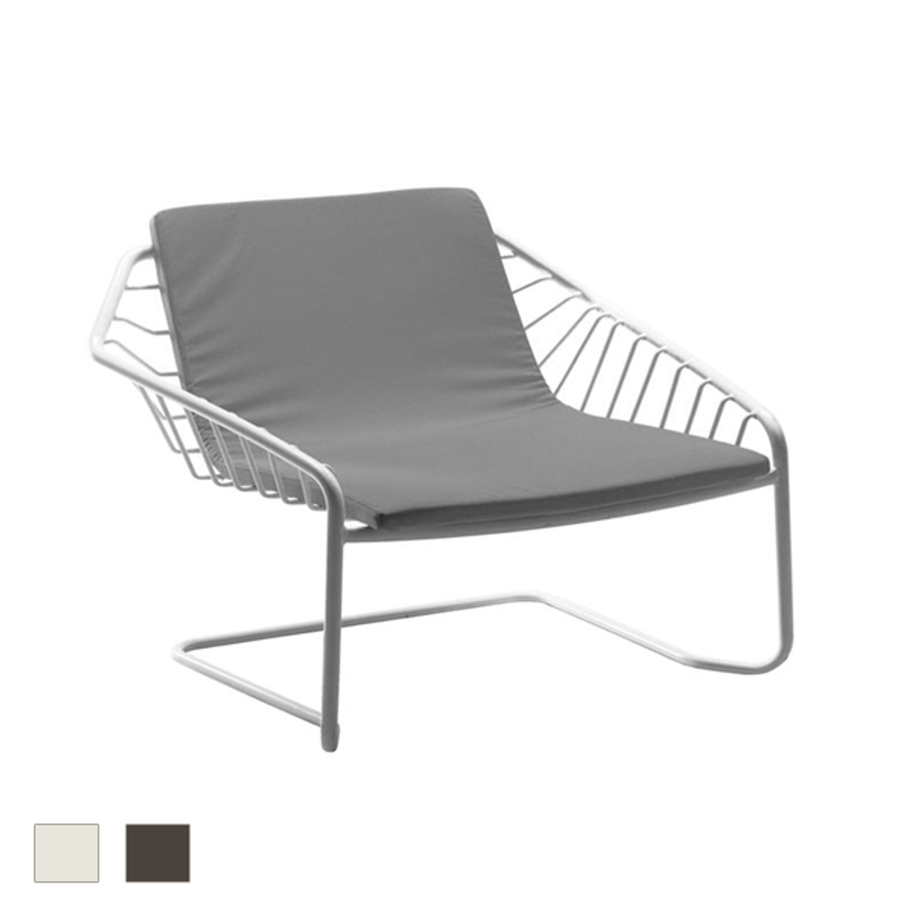Cantilever Lounge Armchair Set Of 2 Modern Patio Furniture
