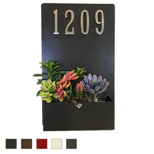 Painted Address Planter