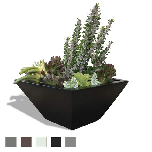 DISCONTINUED Malaga Tapered Square Tabletop Planter