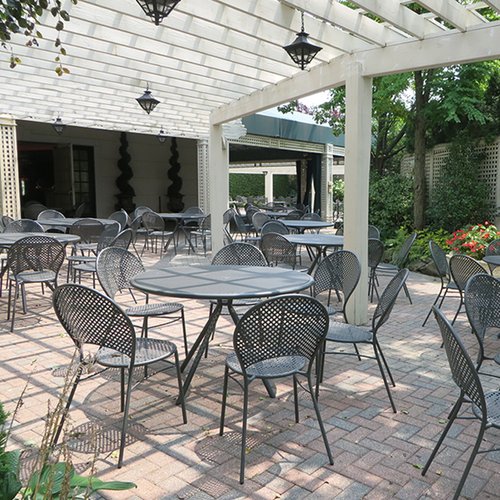 Forte Round Patio Table Modern Patio Furniture
