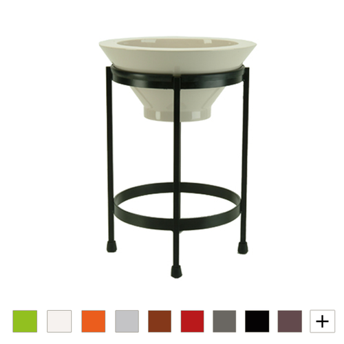 Tier 2 Round Bowl Planter Plus Stand