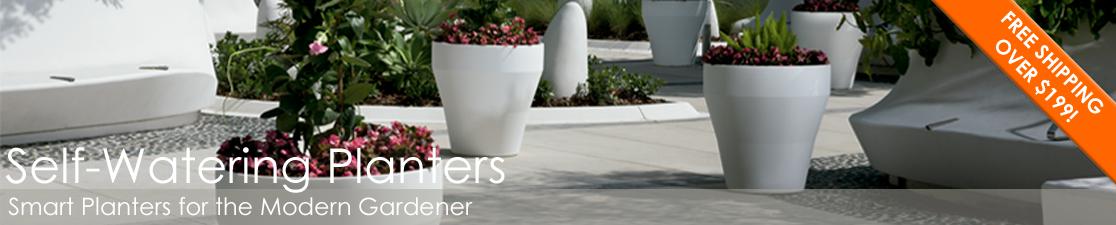 Self-Watering Modern Planters