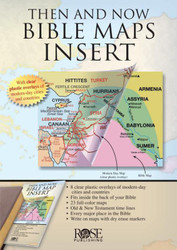 Then and Now Bible Maps Insert: Compare Bible Times with Modern Day