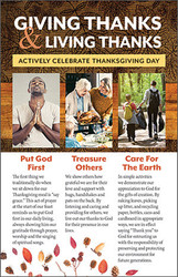 Giving Thanks & Living Thanks Insert (Insert): Actively Celebrate Thanksgiving Day - Pack of 50