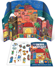 The Way In The Manger - Sticker Book And Poster Combo: Journey to Jesus
