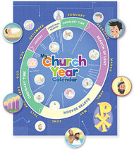 My Church Year Calendar: Card Stock & Sticker Set - Bundle of 12