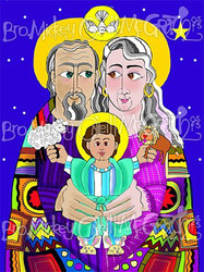 Jesus has a Sleepover with His Grandparents: Sts. Anna and Joachim - Set of 10 Cards