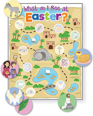 What Do I See At Easter? Activity Sheet + Stickers: Pack of 12