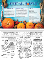[Fall Event - A Festival of Harvest] Fall Harvest Celebration Placemat (Placemat): A Festival of Harvest - Pack of 50