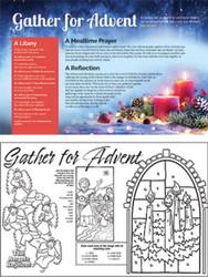 [Advent Event - Gather For Advent] Advent Parish Event Placemat (Placemat): Gather for Advent - Pack of 50
