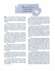 Married Love (Handout): A Special Way of Being Alive