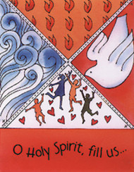 [12 Years of Baptismal Anniversary Cards] Baptismal Anniversary Cards (Cards): Year 7 - O Holy Spirit, Fill Us