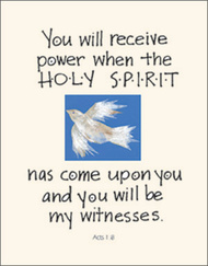 [12 Years of Baptismal Anniversary Cards] Baptismal Anniversary Cards (Cards): Year 10 - You Will Receive Power