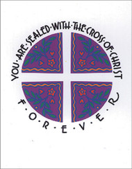 [12 Years of Baptismal Anniversary Cards] Baptismal Anniversary Cards (Cards): Year 12 - You Are Sealed with the Cross of Christ Forever