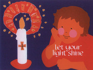 [12 Years of Baptismal Anniversary Cards] Baptismal Anniversary Cards (Cards): Year 5 - Let Your Light Shine