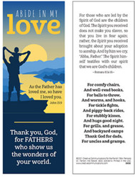 Father's Day Bookmark (Bookmark): Abide in My Love - Pack of 25