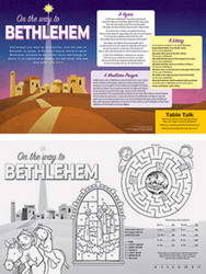 On the Way to Bethlehem Advent Placemat: Pack of 50