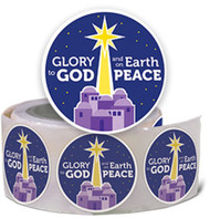 Christmas Stickers - Glory to God (Stickers): Roll of 100