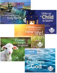 [Shepherd Guides Baptism Follow-Up Cards] Seasonal Post-Baptism Cards (Cards): Set of 5