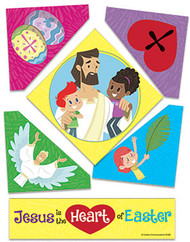 Jesus Is the Heart of Easter (Magnet): Puzzle Magnet