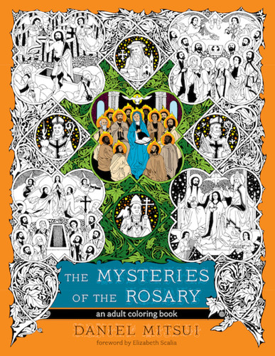 The Mysteries of the Rosary (Booklet): An Adult Coloring Book