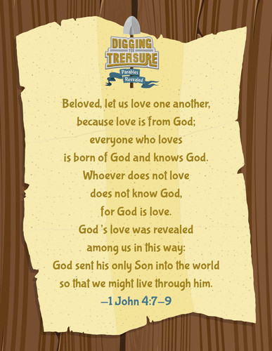 [Digging for Treasure VBS Theme] Bible Memory Poster (Poster)
