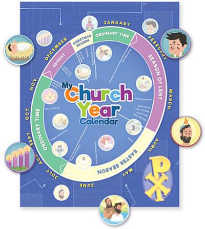 My Church Year Calendar: Card Stock & Sticker Set - Bundle of 12