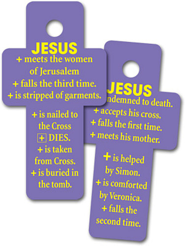 Stations of the Cross Key Tags: Sets of 50