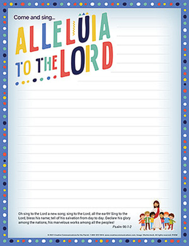 [Easter Event - Alleluia to the Lord!] Easter Parish Event Tri-Fold Mailer: Alleluia to the Lord - Pack of 50