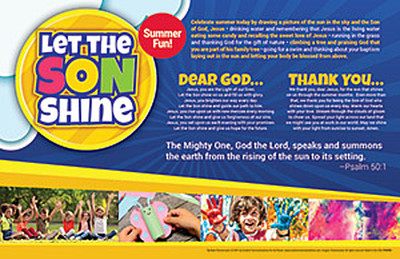 [Summer Event - Let the SON Shine] Summer Parish Event Placemat (Placemat): Let the SON Shine - Pack of 50
