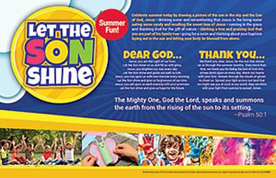 [Summer Event - Let the SON Shine] Summer Parish Event Placemat (Placemat): Let the SON Shine - Pack of 50